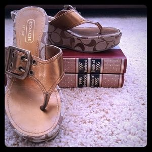 Coach Wedge Heel Sandals